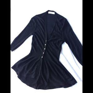 Zara knit- black w/slight shimmer